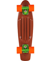 Penny Skateboards Organic Brown, Green & Orange 22 x 6 Cruiser Complete