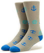 Pink Dolphin Anchor & Wheel Crew Socks