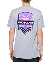 Pink Dolphin Badge Grey Tee Shirt
