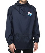 Pink Dolphin Core Tsunami Navy Windbreaker Jacket at Zumiez : PDP