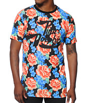 Pink Dolphin Floral Script All Over Tee Shirt
