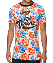 Pink Dolphin Floral Script T-Shirt