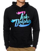 Pink Dolphin Ocean Script Hoodie