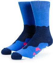 Pink Dolphin Retro Wave Crew Socks