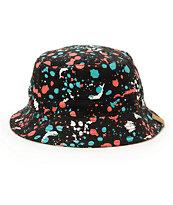 Pink Dolphin Splatter Bucket Hat