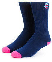 Pink Dolphin Waves Crew Socks