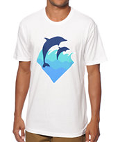 Pink Dolphin Waves T-Shirt