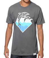 Pink Dolphin Waves Tee Shirt
