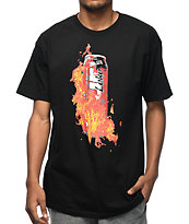 Pizzaslime X Four Loko Flame camiseta negra