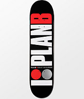Plan B Team OG 7.75 Black Skateboard Deck