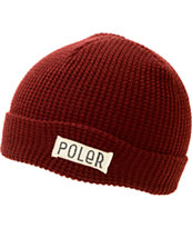 Poler Worker Man Burgundy Beanie