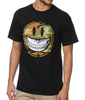 Popaganda Grin Black Tee Shirt