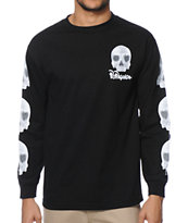 Popaganda Heart Skull Long Sleeve Tee Shirt