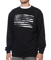 Popular Cheetah Flag Camo Black Crew Neck Sweatshirt