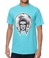 Popular Demand Battle Chief Teal Tee Shirt