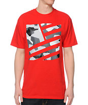 Popular Demand Blok Camo Square Flag Red T-Shirt