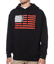 Popular Demand Cheetah Flag Black Pullover Hoodie
