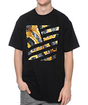 Popular Demand Cobra Square Black Tee Shirt