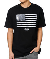 Popular Demand Croc Flag Black Tee Shirt