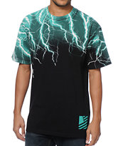Popular Demand Lightning Take Over Black Tee Shirt