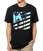 Popular Demand Palms Square Flag Tee Shirt