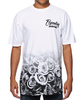 Popular Demand Rose Fade White Tee Shirt