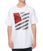 Popular Demand Rose Square White Tee Shirt