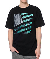 Popular Demand Snakeskin Square Flag Black Tee Shirt