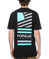 Popular Demand Square Flag Stacked T-Shirt