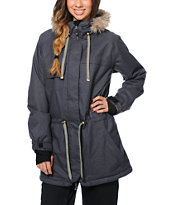 Powder Room Church Charcoal 10K Girls 2014 Snowboard Jacket