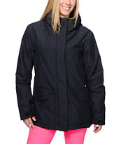 Powder Room Hotel Print Black 5K Snowboard Jacket