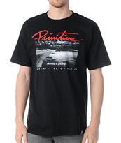 Primitive Above The Clouds Black Tee Shirt