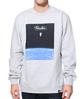 Primitive Beyond Heather Grey Crew Neck Sweatshirt