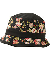 Primitive Black & Roses Bucket Hat