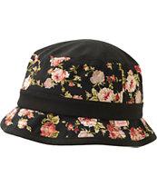 Primitive Black & Roses Bucket Hat