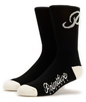 Primitive Classic P Black & White Crew Socks