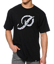 Primitive Classic P Paint Black Tee Shirt