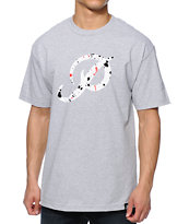 Primitive Classic P Paint Heather Grey Tee Shirt