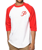 Primitive Classic P Red & White Baseball Tee
