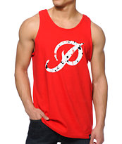 Primitive Classic P Splatter Red Tank Top