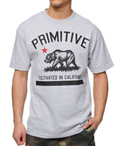 Primitive Cultivated Heather Grey Tee Shirt