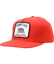 Primitive Cultivated Red Snapback Hat