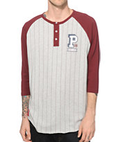 Primitive Fielder Henley Baseball T-Shirt