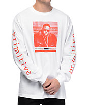 Primitive Frank Biggie White Long Sleeve T-Shirt