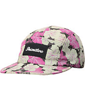 Primitive Maui Khaki & Pink 5 Panel Hat