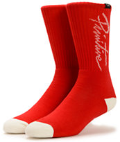 Primitive Nuevo Red Crew Socks