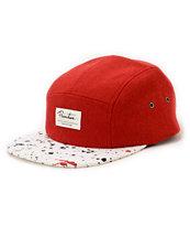 Primitive Paint Splatter Red & White 5 Panel Hat