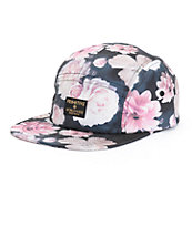 Primitive Rose Noir 5 Panel Hat