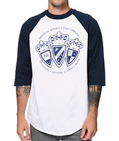 Primitive Royalty White & Royal Blue Raglan Baseball Tee Shirt