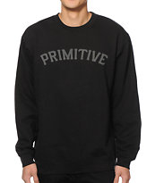 Primitive Slab Type Reflective Crew Neck Sweatshirt